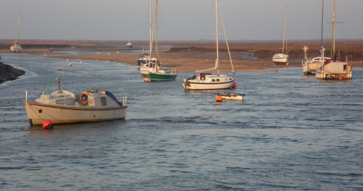 Boats in Wells-next-the-Sea harbour