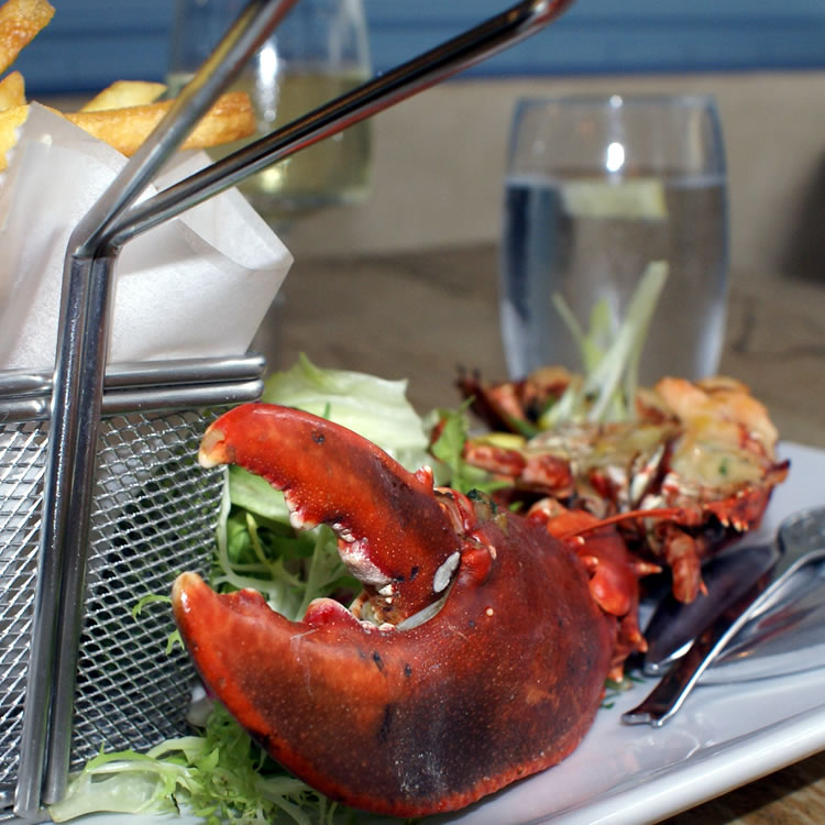Lobster Thermidor one of our delicious menu items