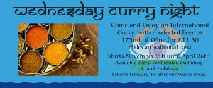 Wednesday Curry Night poster