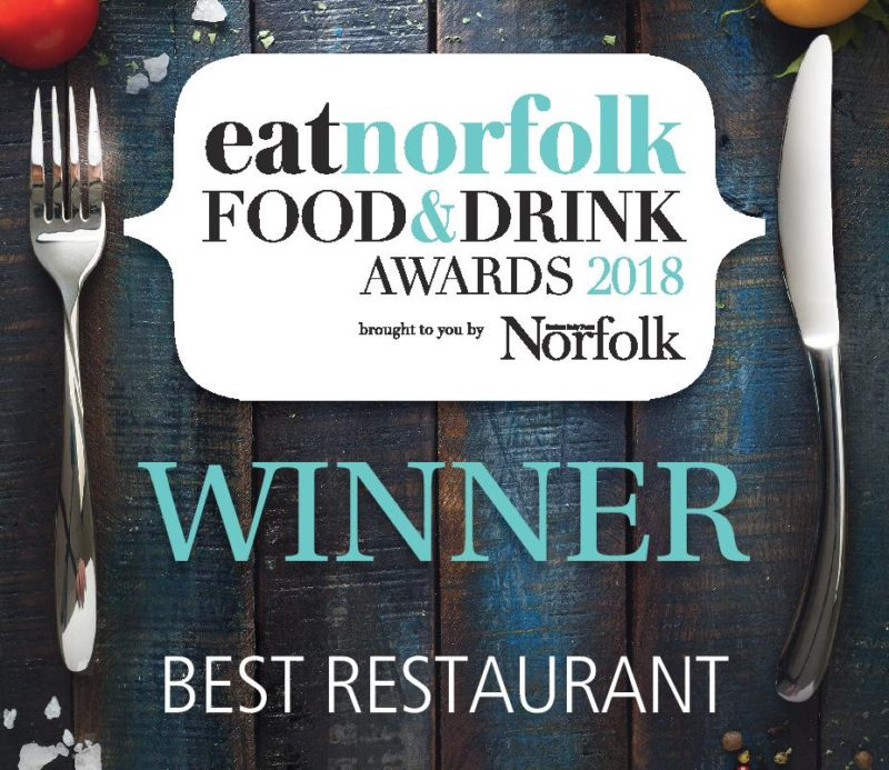 eatnorfolk Food & Drinks awards 2018 WINNER Best Restaurant